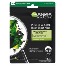Garnier Charcoal/Algae Face Mask 28G