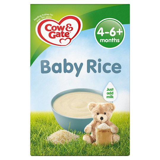 Cow And Gate Pure Baby Rice 100g 4 Month Plus Tesco Groceries
