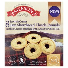 Paterson's Scottish Cream Strawberry Jam Shortbread 200G
