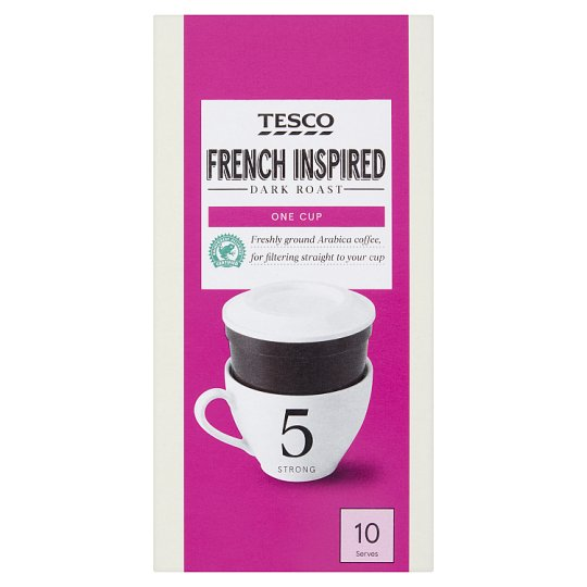 Tesco French One Cup Filters Coffee 10 Pack 75G