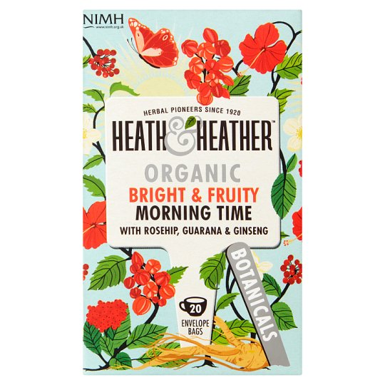 Heath And Heather Organic Bright Fruity Morning Time 40G