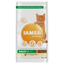 Iams Adult 1+ Cat Food With Fresh Chicken 2Kg