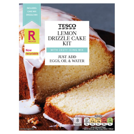 Tesco Lemon Drizzle Cake Kit 320G