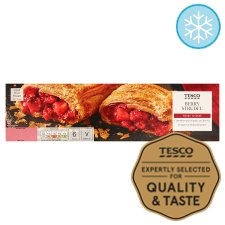 Tesco Berry Strudel 600G