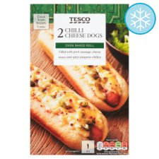 Tesco Chilli Cheese Hot Dog Twin Pack 286G