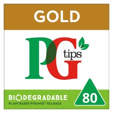 Pg Tips Pyramid Gold 80 Tea Bags 232G