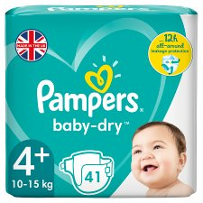 Pampers Baby Dry Size 4+ Essential Pack 41 Nappies