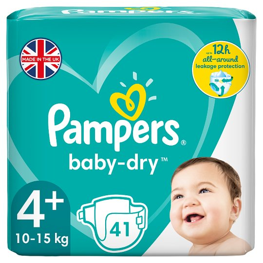 image 1 of Pampers Baby Dry Size 4+ Essential Pack 41 Nappies