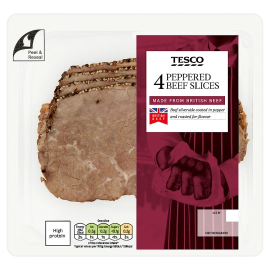 Tesco British Peppered Beef Slices 100G