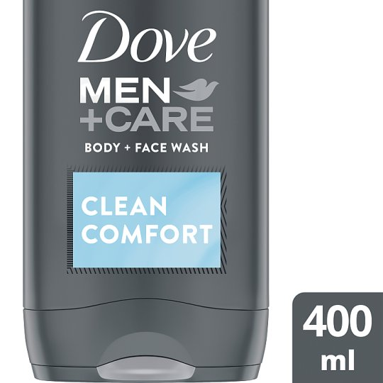 Dove Men Clean Comfort Body And Face Wash 400Ml