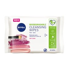 Nivea Biodegradable Gentle Cleansing 20 Face Wipes
