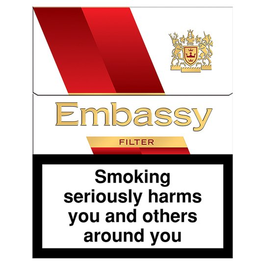 Embassy Red Filter 20 Pack