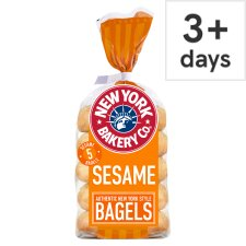 New York Bakery Sesame Bagels 5 Pack