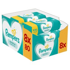 Sensitive Baby Wipes 8X80 Pack