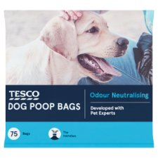 Tesco Dog Poop Bags 75'S