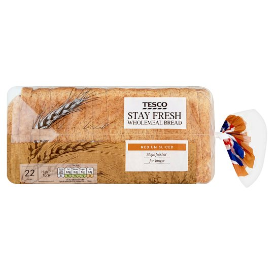 Tesco Stay Fresh Wholemeal Bread 800G