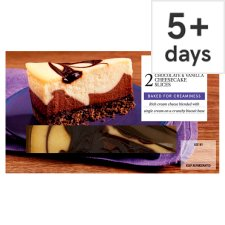 Tesco 2 Vanilla And Chocolate Cheesecake Slices 180G