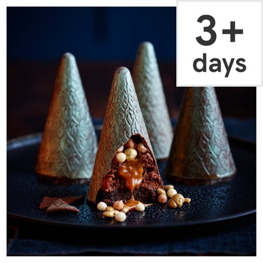 Tesco Four Finest Belgian Chocolate and Caramel Trees 4 Pack, Serves 4