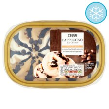 Tesco Cappuccino Ice Cream 900Ml