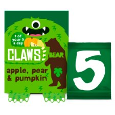 Bear Claws Apple Pear Pumpkin 5X18g