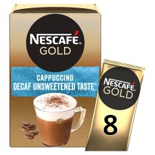 Nescafe Decaffeinated Cappuccino Unsweetened Coffee 8 Sachets 120G