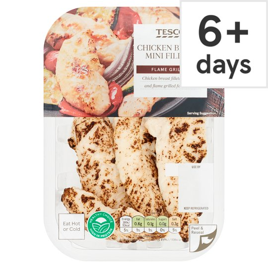 Tesco Flamegrilled Cooked Chicken Breast Mini Fillets 170G