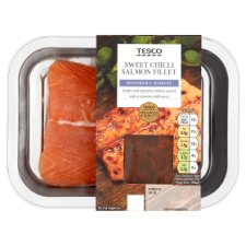 Ready To Cook Salmon Fillets With Sweet Chill Sauce 125G