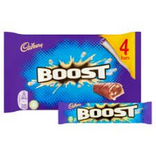 Cadbury Boost Chocolate Multipack 4 X40g