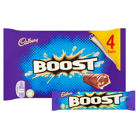 image 1 of Cadbury Boost Chocolate Multipack 4 X40g