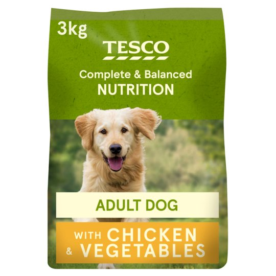 Tesco Complete Dog Food Chicken And Country Vegetable 3Kg