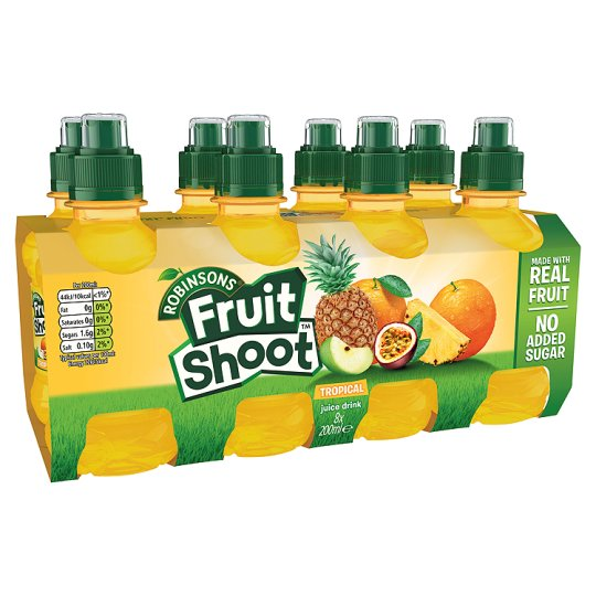 Robinsons Fruit Shoot Tropical No Added Sugar 8 X200ml
