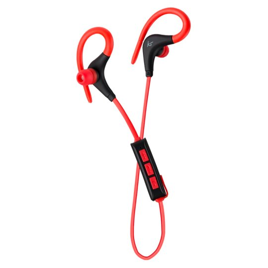 Kitsound Race Btooth Sports Over Ear Black Red