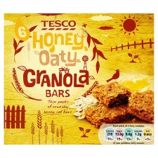 Tesco 6 Honey And Oaty Granola Bars 6 Pack 252G