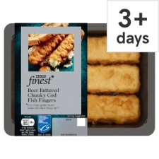 Tesco Finest Battered Fish Fingers 180G