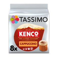 image 1 of Tassimo Kenco Cappuccino Coffee Pods 8 Servings