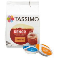 image 2 of Tassimo Kenco Cappuccino Coffee Pods 8 Servings