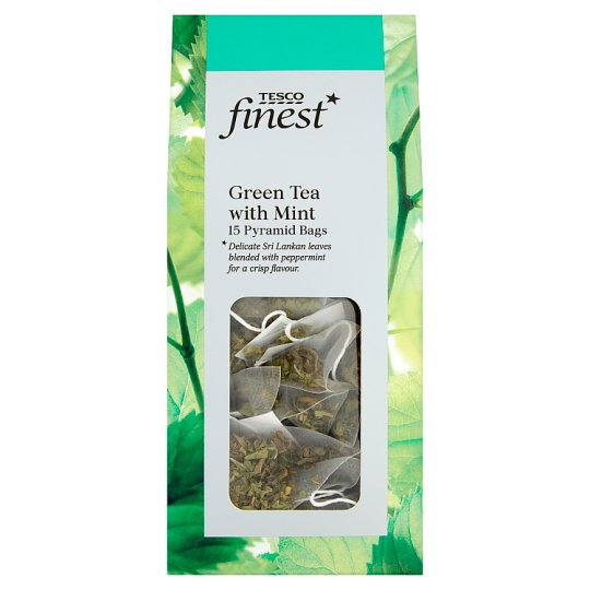 Tesco Finest Green Tea Mint 15 Tea Bags 30G