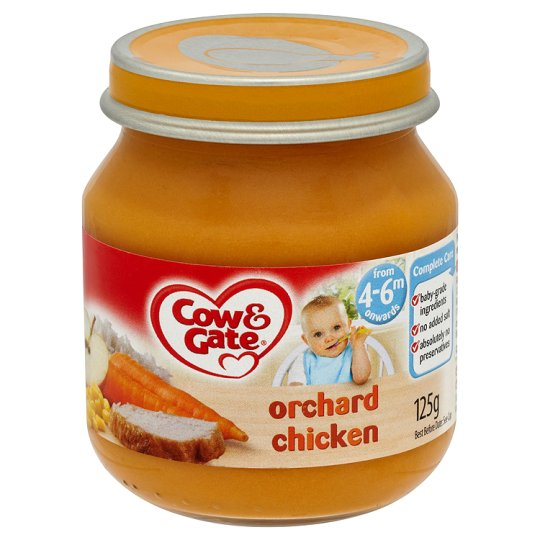 Cow And Gate Orchard Chicken Jar 125G 4 Mth+