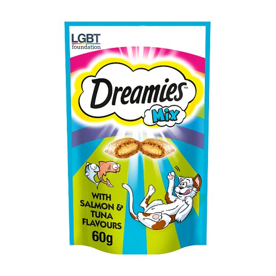 image 1 of Dreamies Mix Salmon Tuna Cat Treats 60G