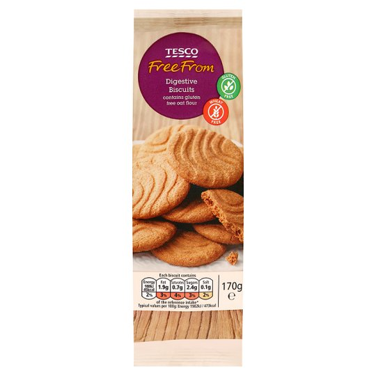 Tesco Free From Plain Digestive Biscuits 170G