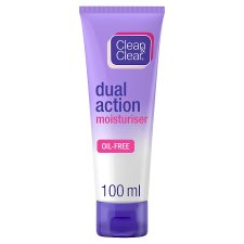 Clean And Clear Dual Action Moisturiser 100Ml