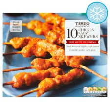 Tesco 10 Chicken Satay Skewers 180G