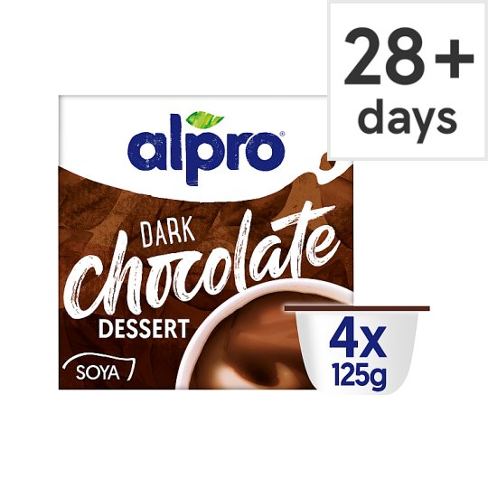 image 1 of Alpro Dark Chocolate Soya Dessert 4X125g