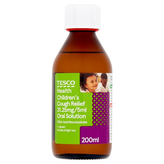 Tesco Childrens Dry Cough Syrup 200Ml