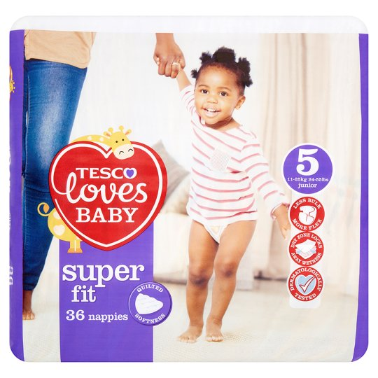 Tesco Loves Baby Superfit Size 5 Economy Pack 36