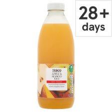 Tesco 100% Pressed Apple And Mango Juice 1 Litre