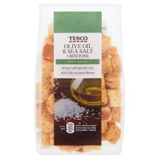 Tesco Olive Oil And Sea Salt Croutons 100G