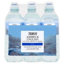 Tesco Ashbeck Natural Mineral Water Sport 6X500ml