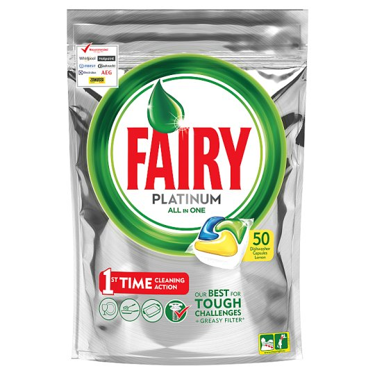 Fairy Platinum Lemon 50 Dishwasher Tablets