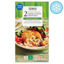 Tesco 2 Vegetarian Cheese And Onion Crisp Bakes 240G